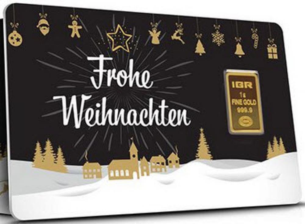 Frohe Weihnachten Gold.1g Geschenke